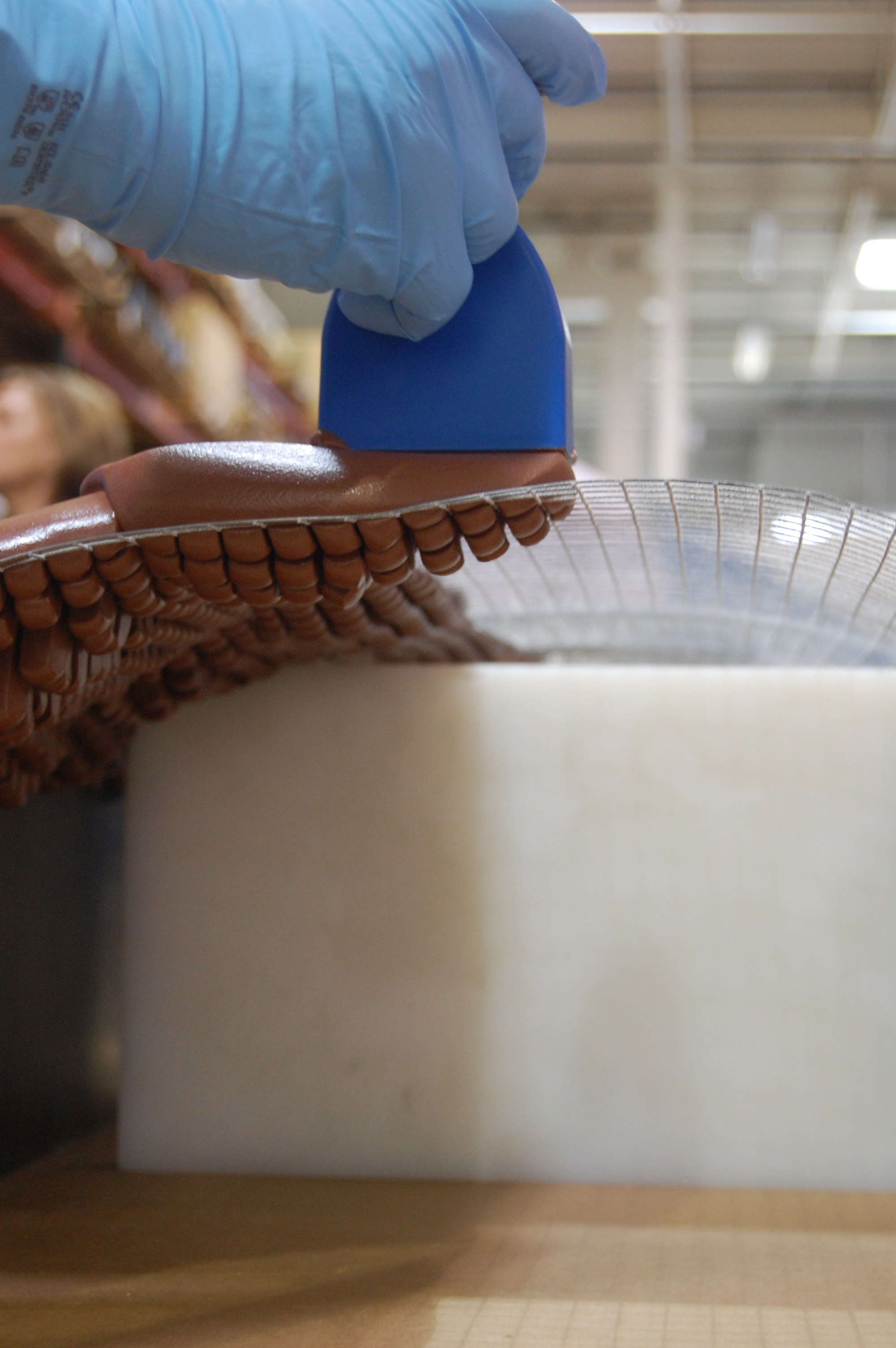 Paste Application on Wire Mesh