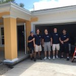 The AIN Plastics Tampa Team takes in the view from the Habitat for Humanity Home they spent the day at.